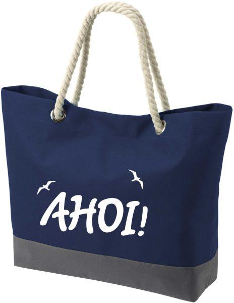 Shopper Bag Einkaufstasche Maritim Nautical Ahoi