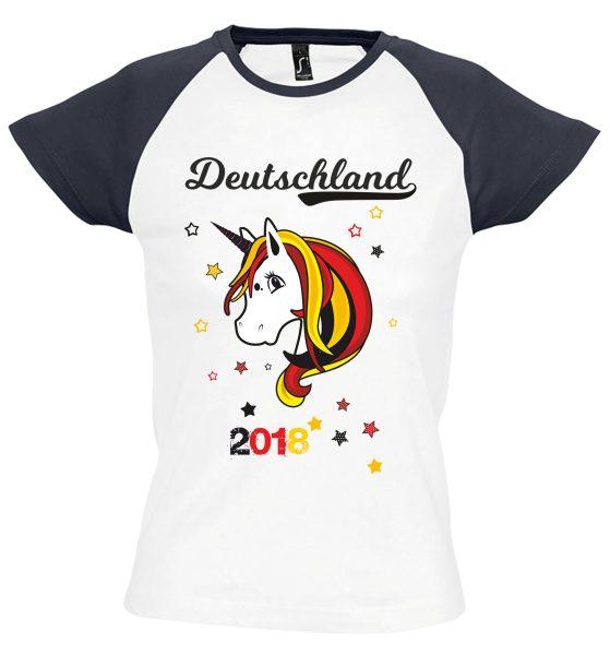 Damen T-Shirt Milky EM 2021 Motiv 8 Einhorn Beauty