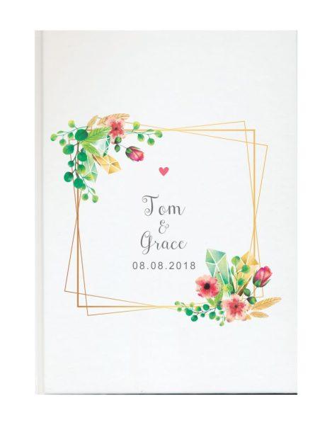Personalisiertes Gästebuch für Ihre Hochzeit (Motiv 61)