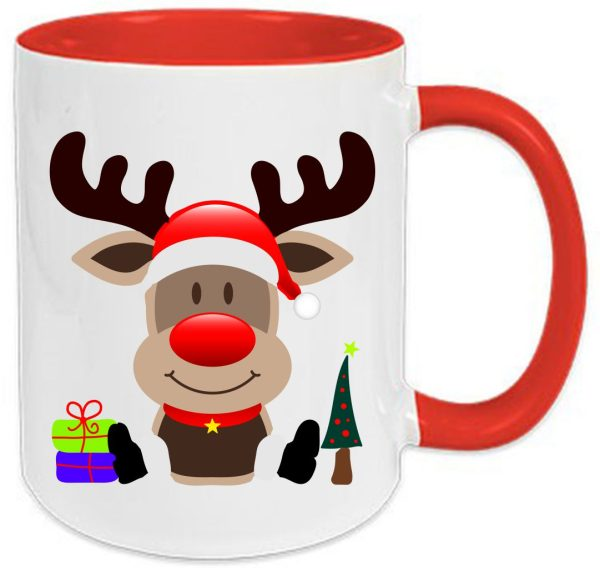 Tasse Rot Weihnachten Elch
