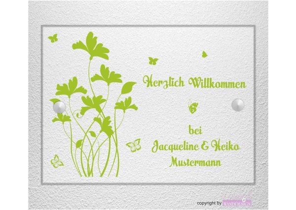 Personalisiertes Schild Hausschild Wohnung Hausnummer Motiv 09