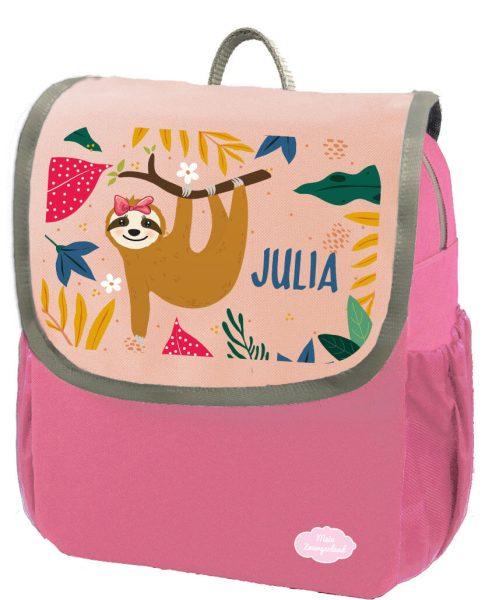 Kindergartenrucksack Happy Knirps NEXT mit Name Pink Faultier Mädchen