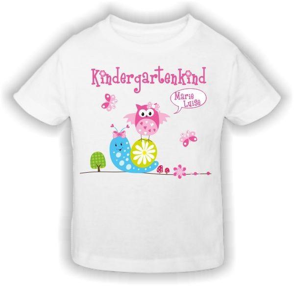 Kindergarten T-Shirt Schnecke Eule