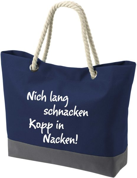 Shopper Bag Einkaufstasche Maritim Nautical Nich schnacken