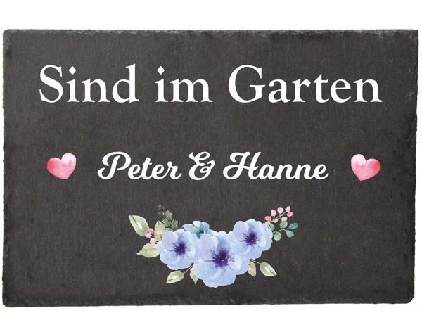 Schieferplatte für den Garten Sind im Garten