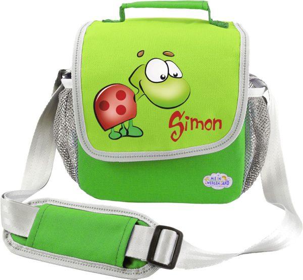 Kindergartentasche Happy Knirps grün Schildkröte
