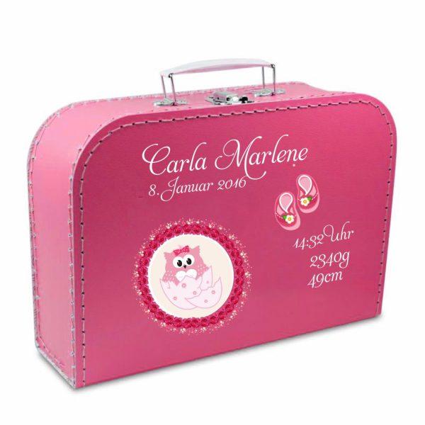 Geschenkkoffer pink Eule