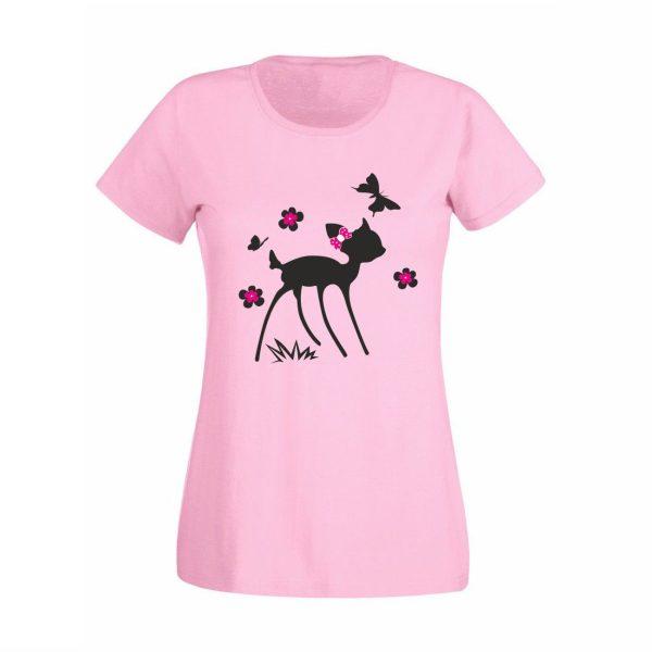 Damen T-Shirt Rehkitz