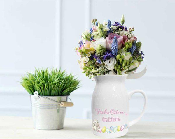 Personalisierte Vase mit Henkel Tasse zu Ostern