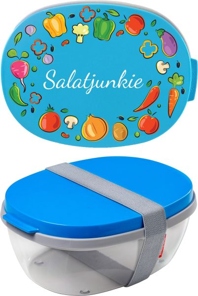 Salatbox Ellipse Aqua Salatjunkie