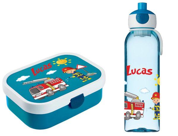 Brotdose Campus mit Bento-Einsatz - Campus Wasserflasche Blau - Motivauswahl
