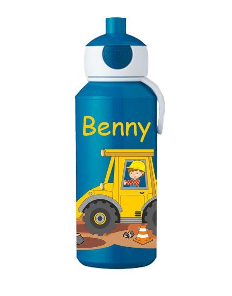 Trinkflasche Mepal Campus Pop-Up Blau Bagger Baustelle
