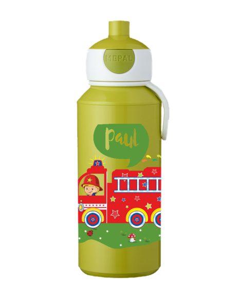 Trinkflasche Mepal Campus Pop-Up Lime Feuerwehr bunt