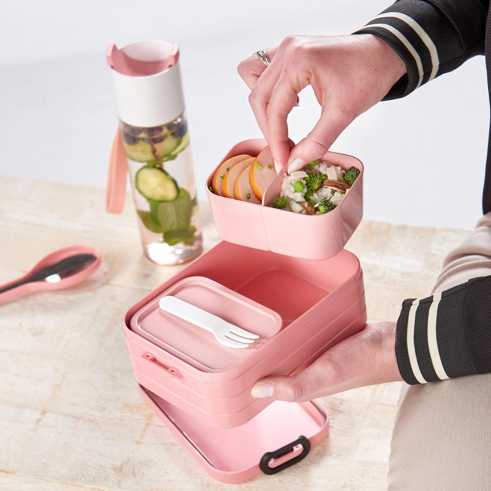 Lime Mein Zwergenland Brotdose Mepal Campus mit Bento Box und Gabel mit eigenem Namen Einhorn Beauty