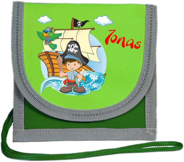 Brustbeutel Happy Knirps grün Pirat
