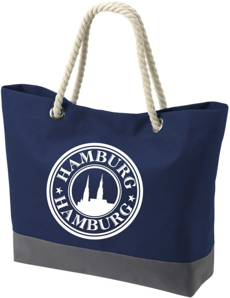 Shopper Bag Einkaufstasche Maritim Nautical Hamburg Logo
