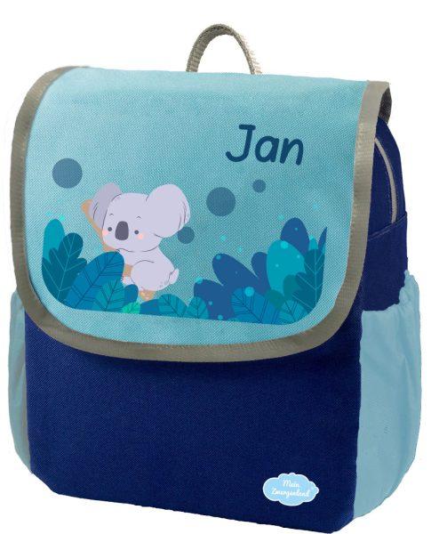 Kindergartenrucksack Happy Knirps NEXT mit Name Blau Koala