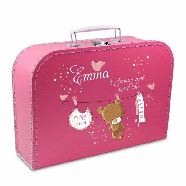Geschenkkoffer pink Teddy