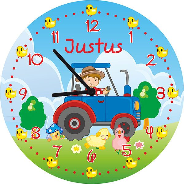 Kinderzimmeruhr Wanduhr Traktor
