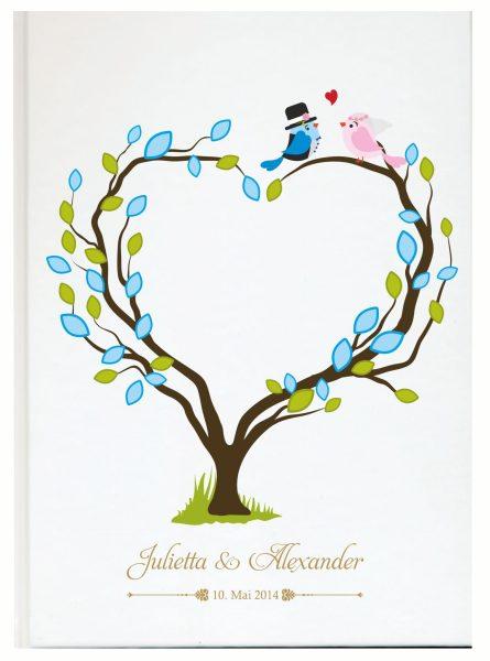 Personalisiertes Gästebuch für Ihre Hochzeit (Motiv 30)