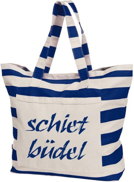 Streifen-Strandtasche Shopper maritim Schietbüdel