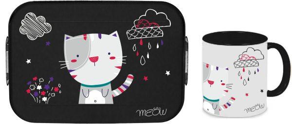 Bento Brotdose Take A Break Large - Tasse - Katze Meow