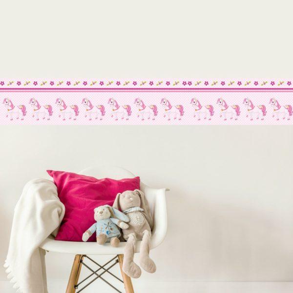 Vlies Bordüre selbstklebend fürs Kinderzimmer Pony