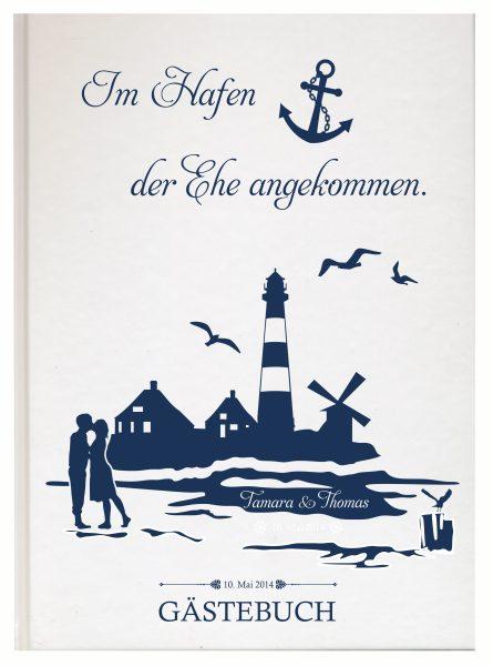 Personalisiertes Gästebuch für Ihre Hochzeit (Motiv 05)