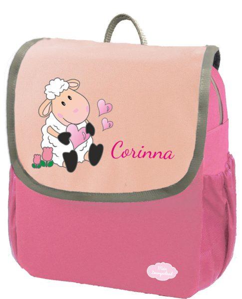 Kindergartenrucksack Happy Knirps NEXT mit Name Pink Schaf