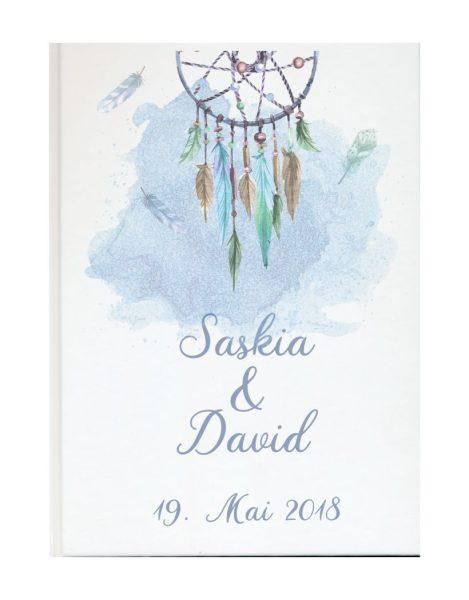 Personalisiertes Gästebuch für Ihre Hochzeit (Motiv 66)