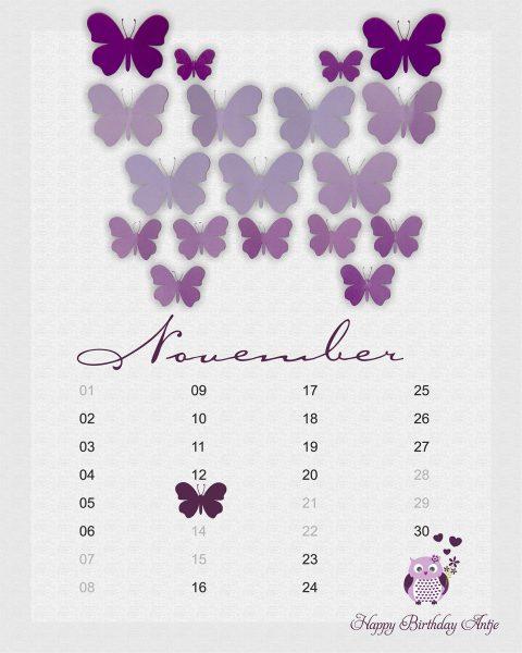 Geburtstagsleinwand Schmetterling