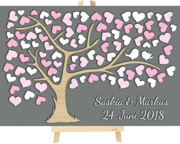 3d Baum Aus Holz Zur Hochzeit Personalisiert Mit Herzen 3d Bäume