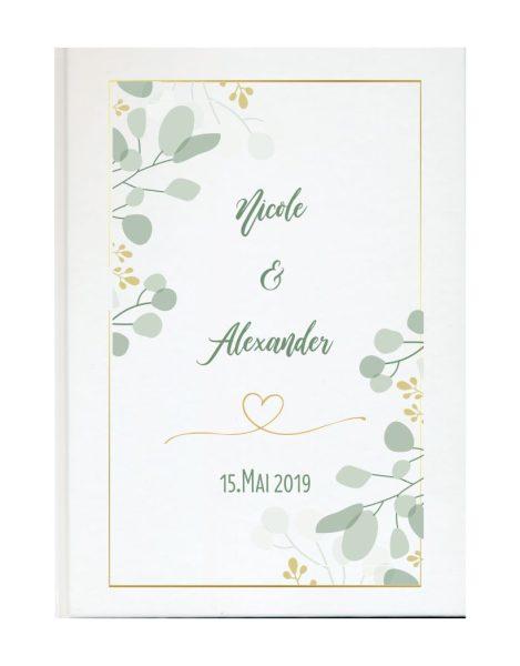 Personalisiertes Gästebuch für Ihre Hochzeit (Motiv 13)