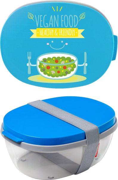 Salatbox Ellipse Aqua Veganfood
