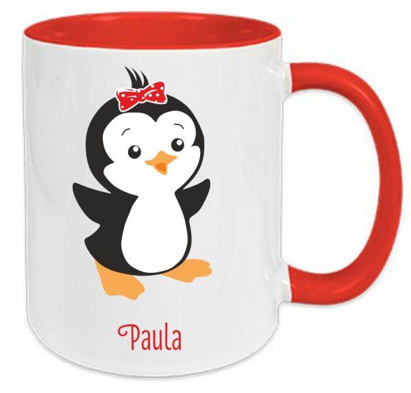 Tasse Rot Pinguin Du bist wundervoll