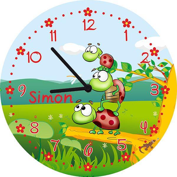 Kinderzimmeruhr Wanduhr Schildkröten