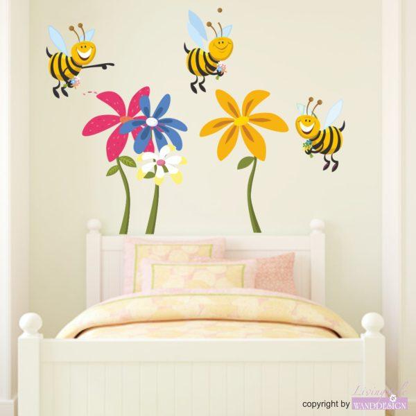 Wandtattoo Lustige Bienen