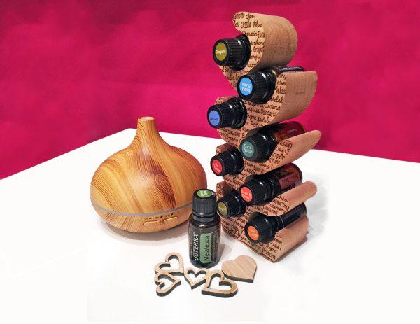 Ölbaum Ölständer für ätherische Öle aus unbehandelten Buchenholz