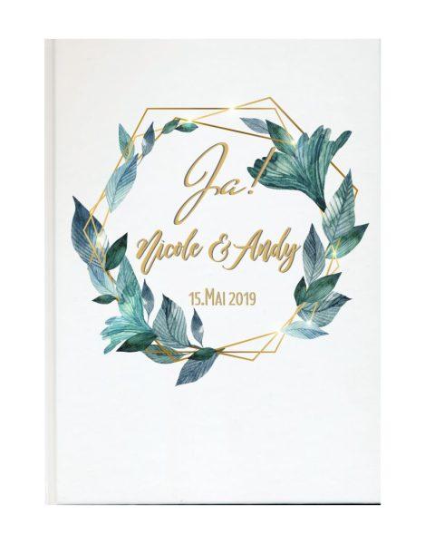 Personalisiertes Gästebuch für Ihre Hochzeit (Motiv 27)