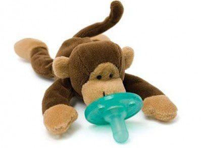 WubbaNub Schnuller Affe - Baby Stofftier mit Soothie