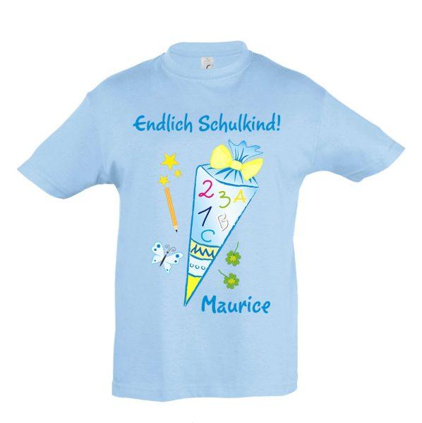Schulanfang T-Shirt für Jungen Schultüte Zuckertüte