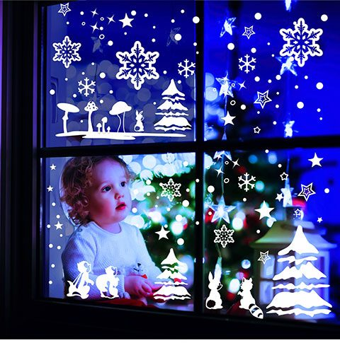 Fenstersticker Winterlandschaft