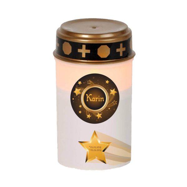 LED Grablicht Kerze Klein Sternenkind Sternschnuppe