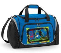 Sporttasche mit Schuhfach und Feuchtfach saphire blue Fußballkicker