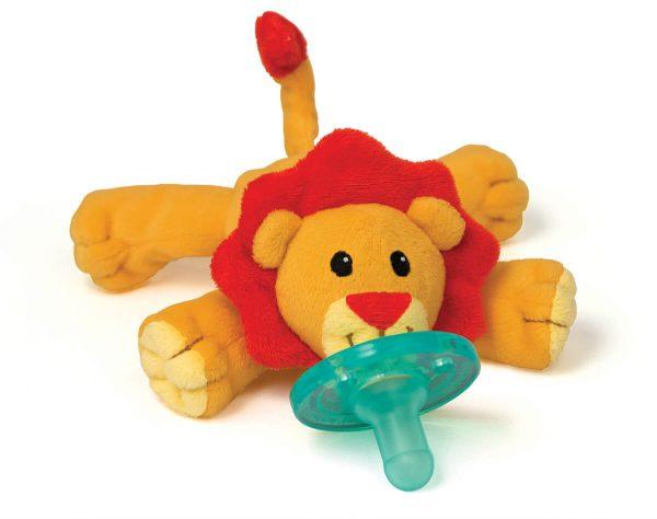 WubbaNub Schnuller Löwe - Baby Stofftier mit Soothie