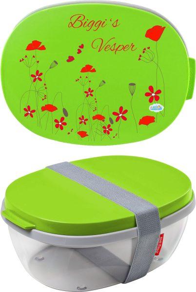 Salatbox Ellipse Lime Gräser