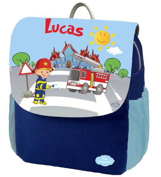 Kindergartenrucksack Happy Knirps NEXT Print mit Name, Blau Motivauswahl