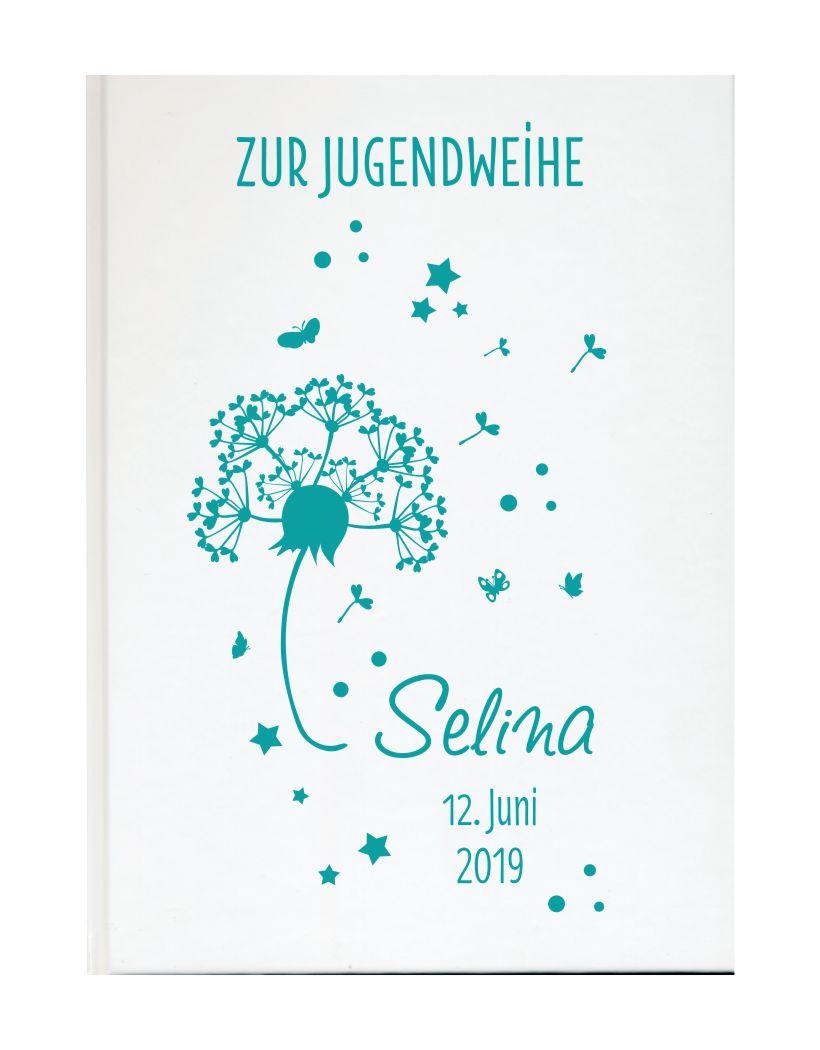 Jugendweihe Karte Schreiben.Personalisiertes Gästebuch Zur Jugendweihe Mit Namen Und Datum Pusteblume
