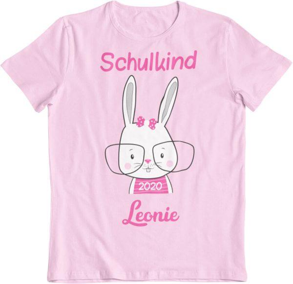 Schulanfangsshirt für Mädchen Hase