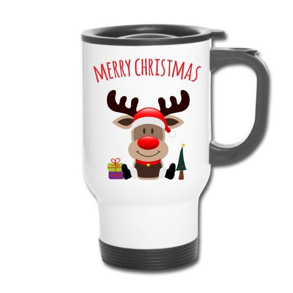 Thermobecher Weihnachten Christmas Xmas Elch